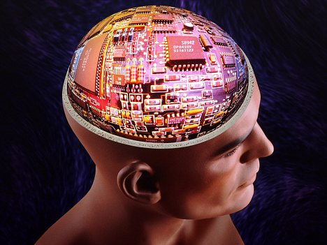 Head Filled with Circuitry